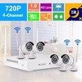 $ NUMBER CANALES CCTV HD DVR Kit Inalámbrico WLAN Wifi 720 P Cámara de Seguridad Al Aire Libre Sistema de Grabadora De Vídeo NVR