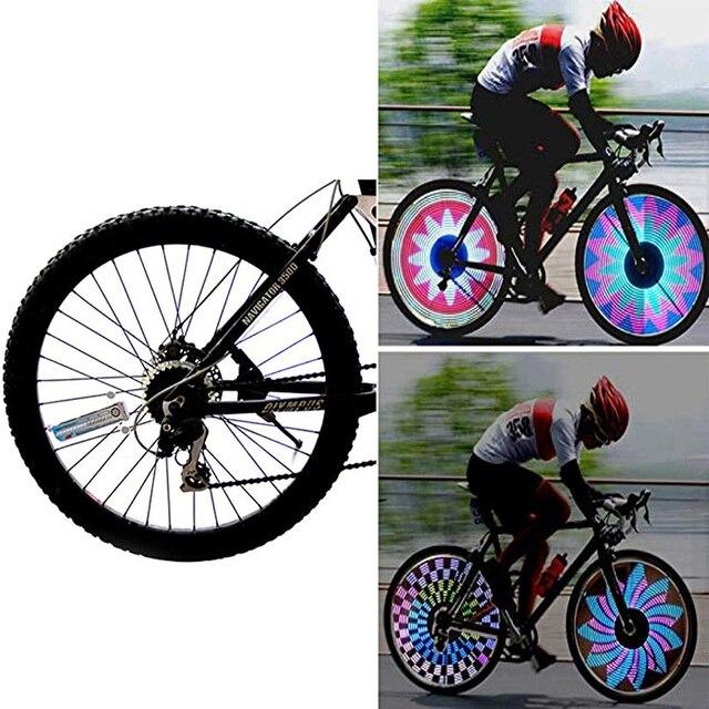 אופניים צמיג גלגל אור led צבעוני פלאש דיבר אורות לאופניים ואופנועים