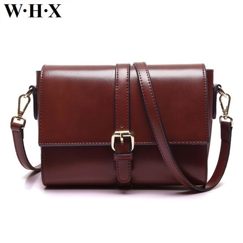 WHX New Fashion PU Leather Women Handbag Messenger Bag Female Brown Purse Crossbody Shoulder Bags Sling Bag For Woman Handbags whx new style casual fashion women tote bag crossbody bag female shoulder messenger bag leather cartoon cat bear sequin handbag