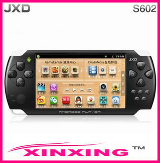 Android4.0 game player JXD S602 4.3 inch touch screen4G with back came