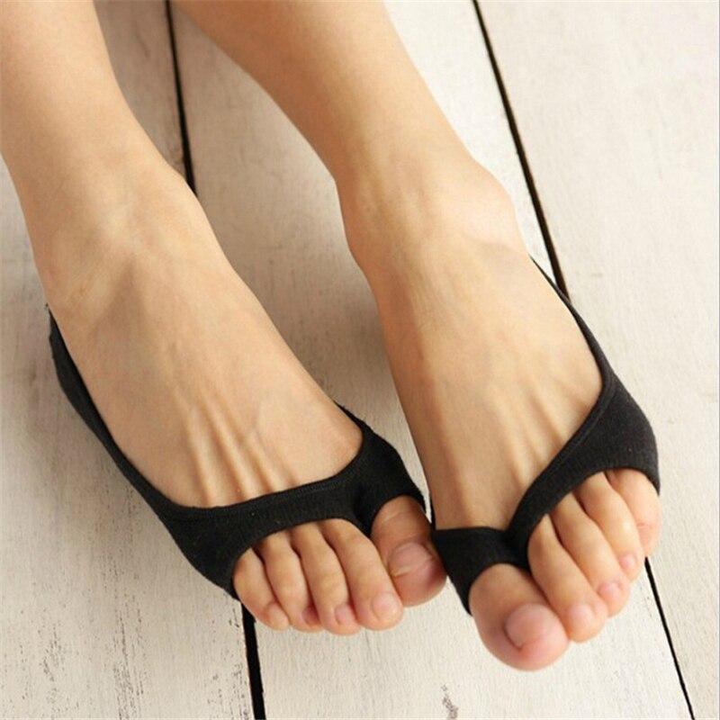 Горячее предложение бамбуковое волокно Для женщин носки летние тонкие носки открытым носком женский носок тапочки невидимый Нескользящая ... ...