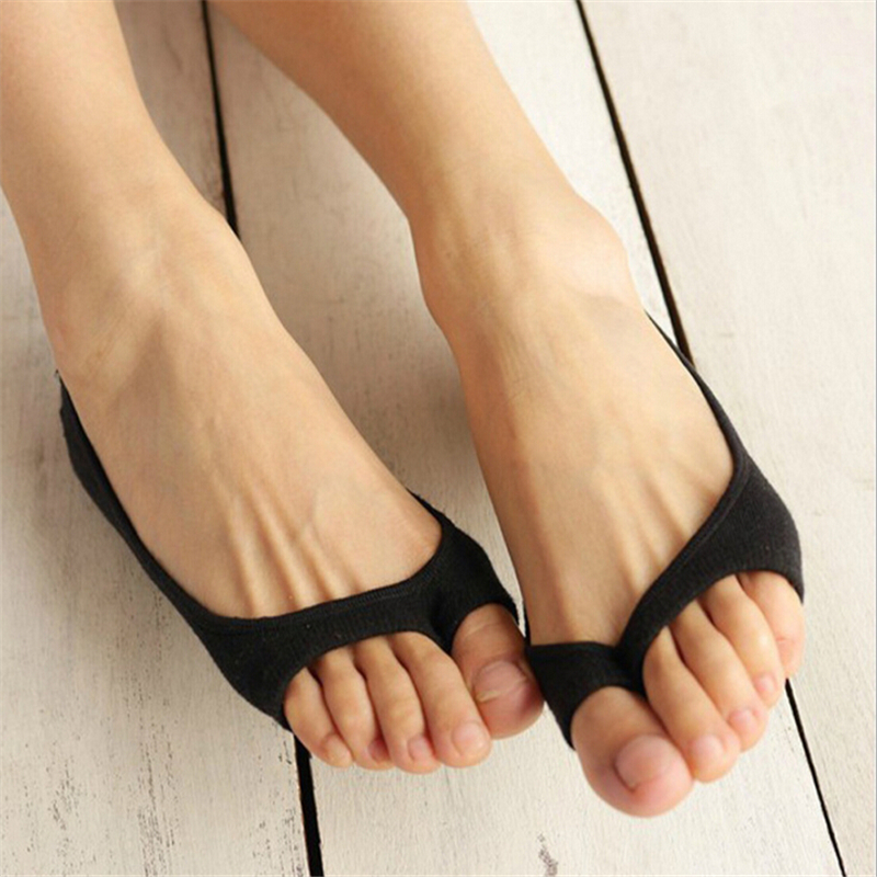 Jeseca New Hot Bamboo Fiber Women Socks Summer Thin Breathable Open Toe Socks Female Sock Slippers Invisible Non-Slip Boat Sox