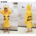 Regalo de pascua Primavera Invierno Albornoces infantiles 11 Colores Boy Girl Cartoon Animal Pikachu Franela Bata de Baño Con Capucha Niños Pijamas