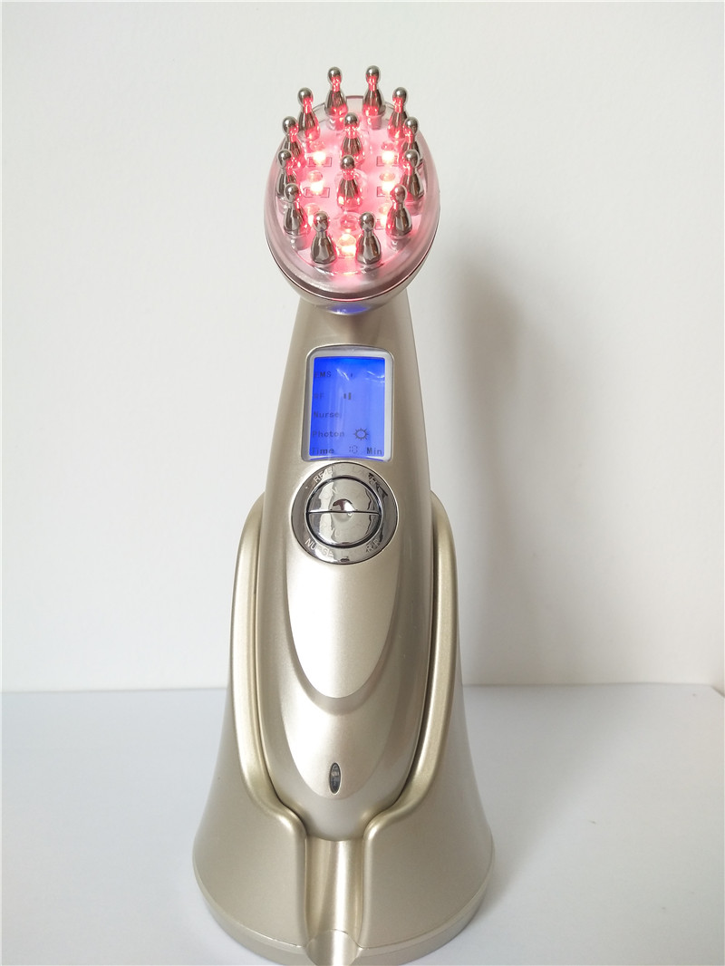 Micro Current Therapy LED Laser Comb Scalp Massage Hair Regrowth Hair Loss Treatment Device Activate Hair Follicles