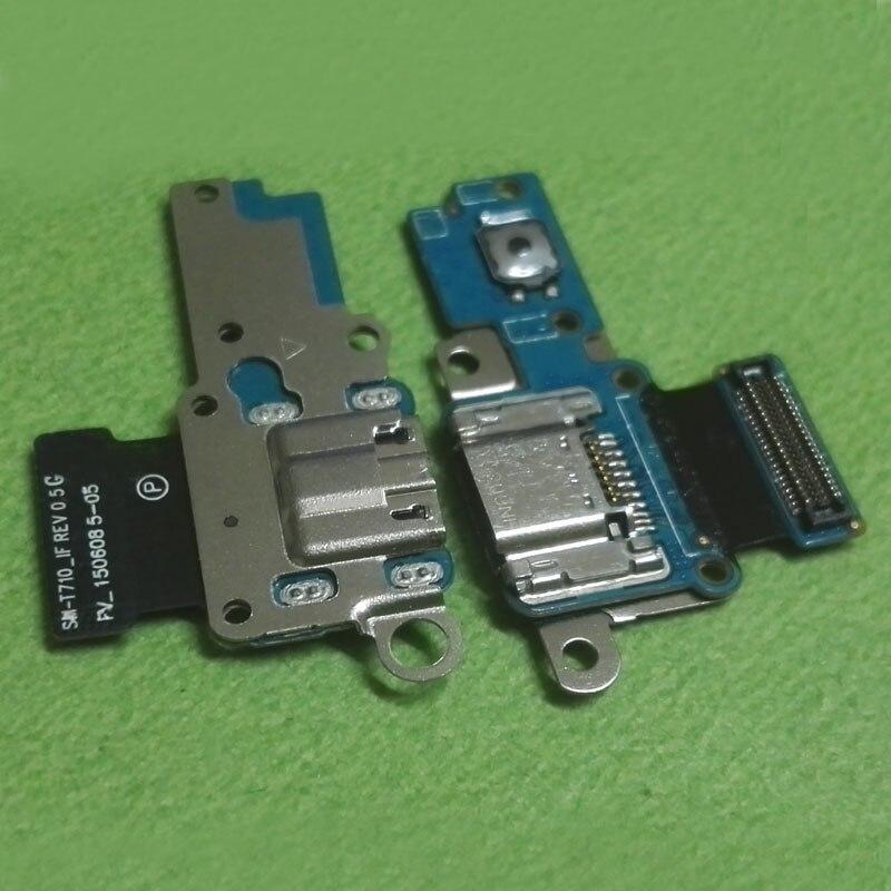 Зарядка через USB Зарядное устройство Док-станция Порты и разъёмы Разъем Flex ленты кабель для Samsung Galaxy Tab S 8.4 T715 T710 Главная Кнопка Ключевые
