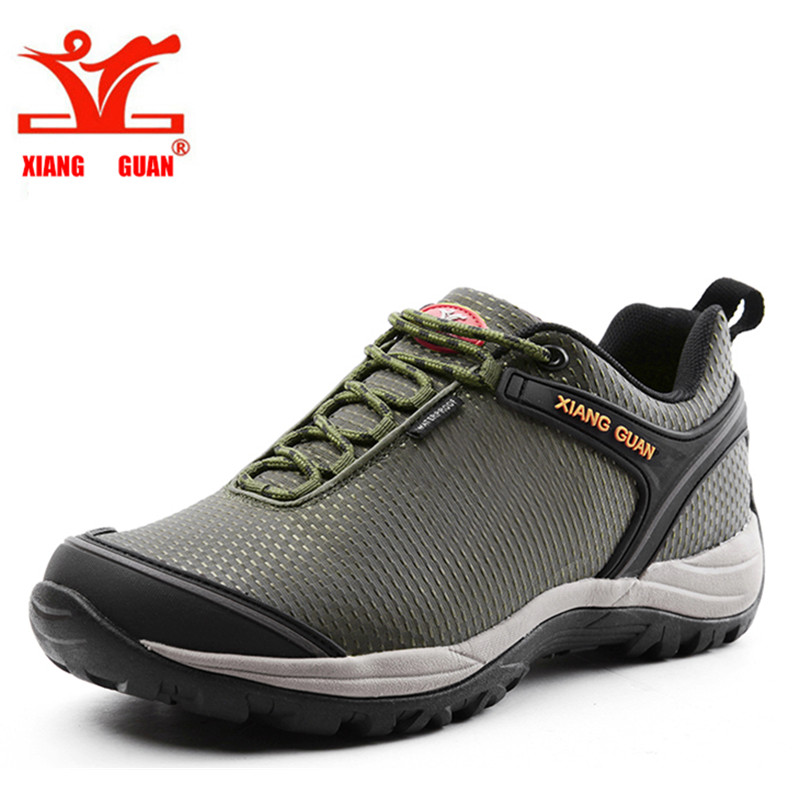 XIANGGUAN Canvas Breathable Outdoor Shoes Hiking For Women Waterproof Climbing font b Sneakers b font Trekking