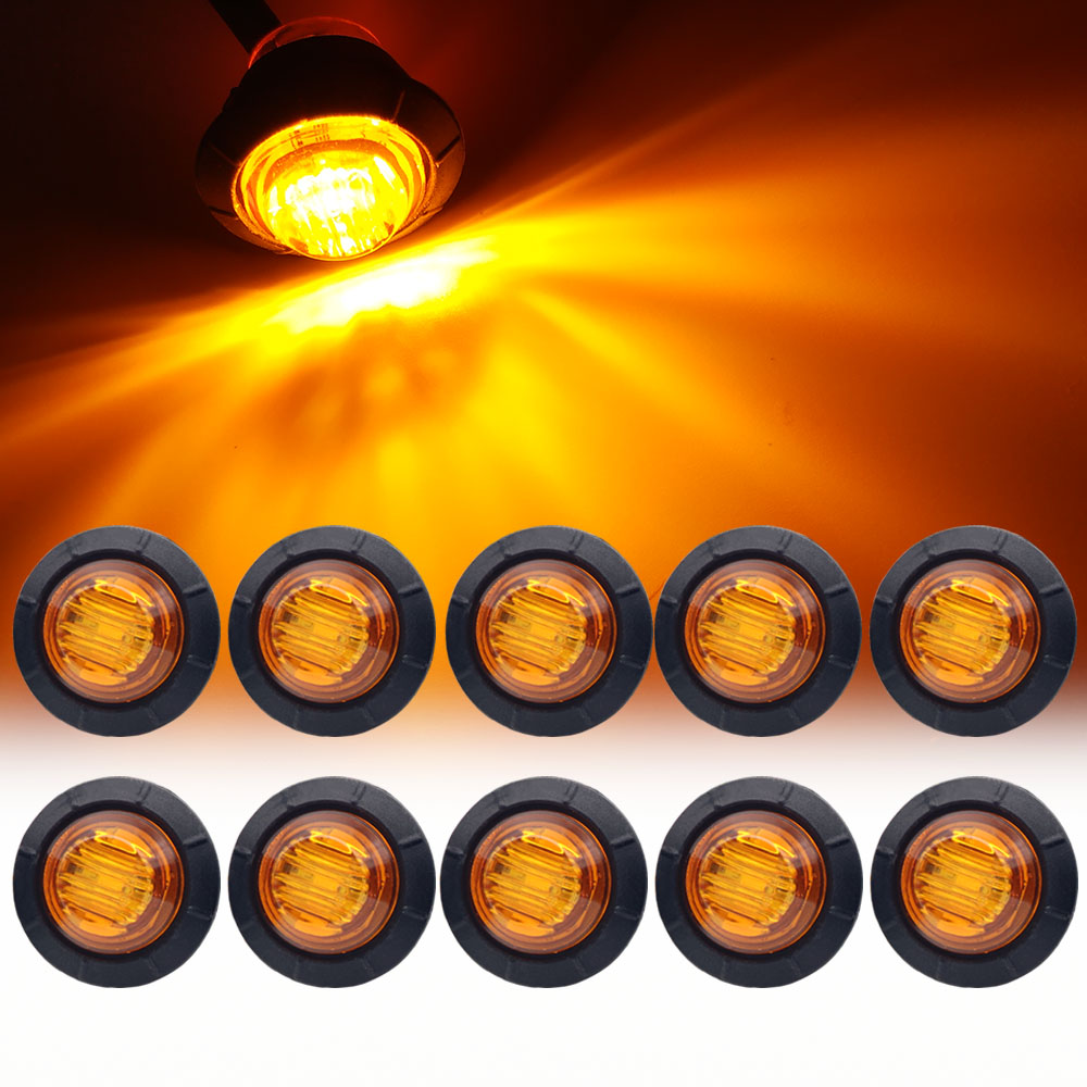 10pcs Waterproof 12V 3LED 3/4