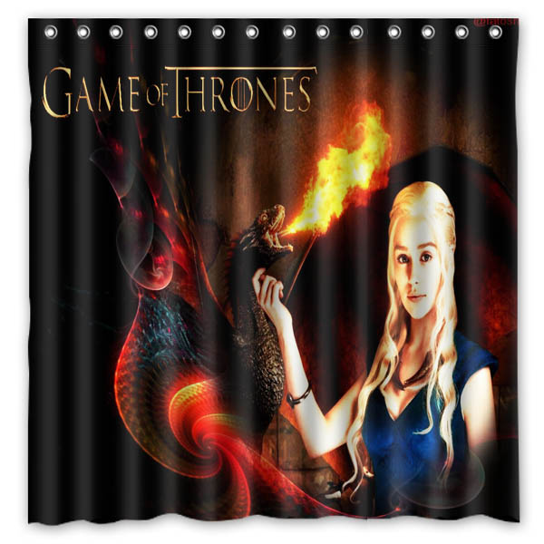 Game of thrones Waterproof Mildewproof Bath Curtain Polyester Fabric Shower Curtain For Bathroom Decor 180*180cm