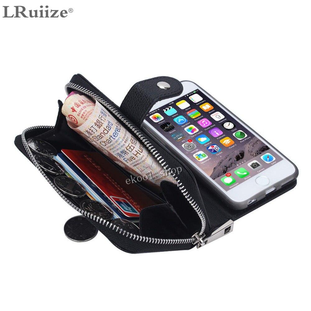 LRuiize Lady Luxury Leather läderfodral för Apple iphone X 8 7 Plus - Reservdelar och tillbehör för mobiltelefoner - Foto 4