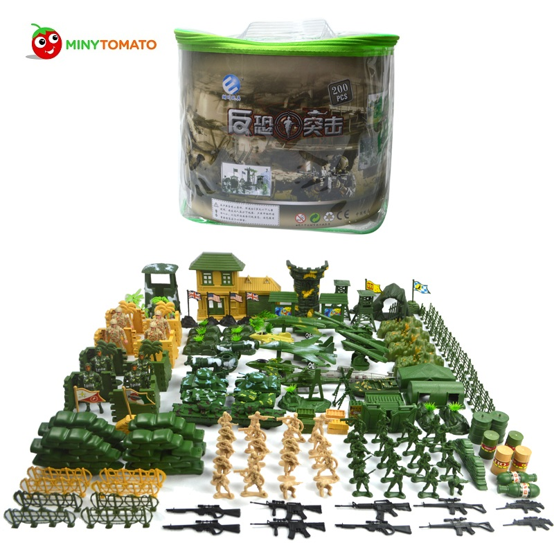 Free Shipping 200pcs/lot Plastic Soldier set Military Toy Model Set With Tank Helicopter Model Best Toys for Children Birthday 200pcs lot 2sa950 y 2sa950 a950 to 92 transistors