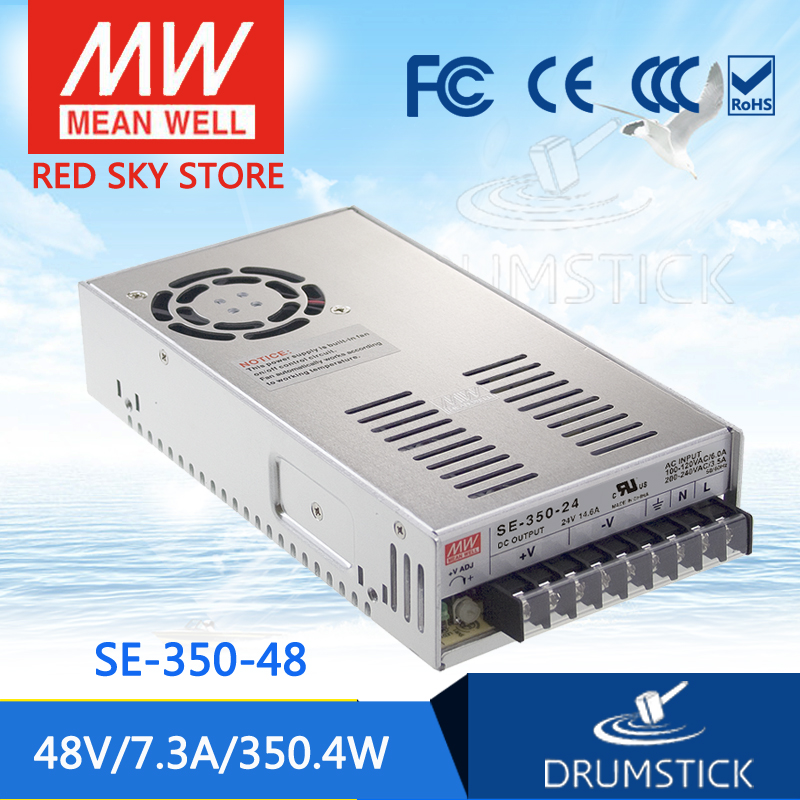 Selling Hot MEAN WELL SE-350-48 48V 7.3A meanwell SE-350 48V 350.4W Single Output Switching Power Supply best selling mean well se 200 15 15v 14a meanwell se 200 15v 210w single output switching power supply