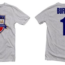Men T-Shirt Italy Footballer Buffon Summer O-Neck Tops Tee Forza Hero Azzurri New