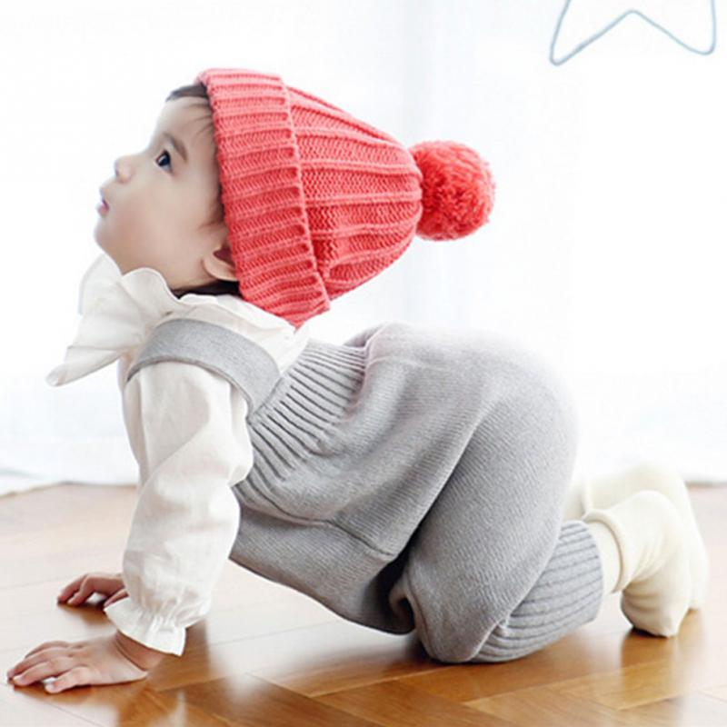 Clearance Winter Kids Baby Colorful Cotoon clothes Unisex baby belt pants Boy Girl Sleeveless Knitted Sweater braces