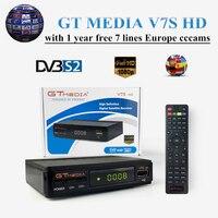 New GT MEDIA V7S HD DVB S2 FREE SAT V7 HD Receptor Satellite TV Receiver+free 1 year Europe cccams/cline Spain Satellite Decoder