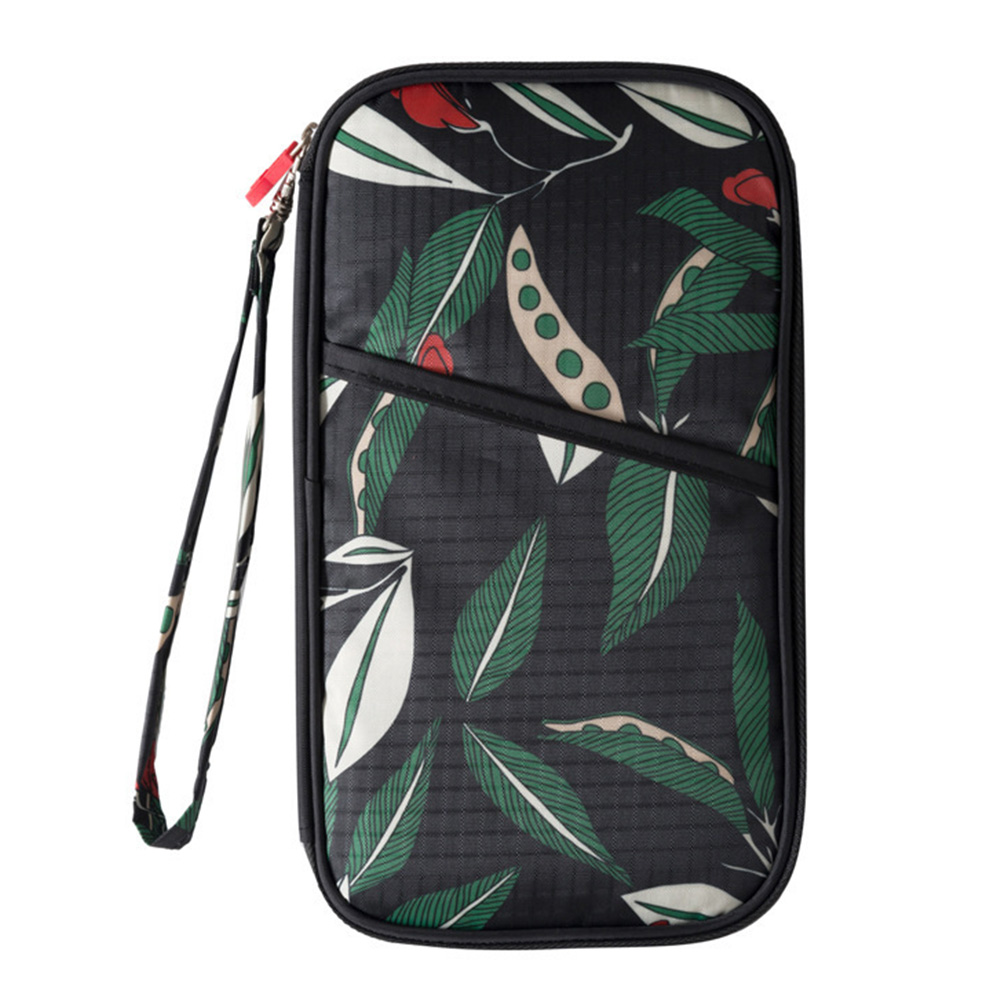 Card Holder Convenient Strap Mini Travel Durable Casual Multifunction Passport Wallet Portable Floral Print Accessories