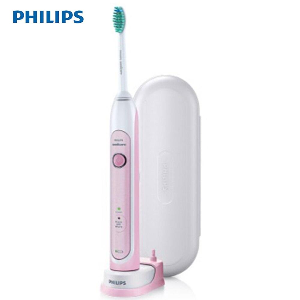 Philips Sonicare HealthyWhite Sonic brosse à dents électrique jusqu'à 62000 brosse mouvement/min avec 2 modes, 1 tête de brosse HX6761/03