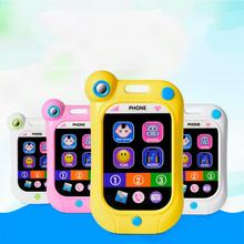LeadingStar Baby Early Learning Simulation Smart Screen Phone Stop Crying Cellphone with Music Toys for Kids zk30
