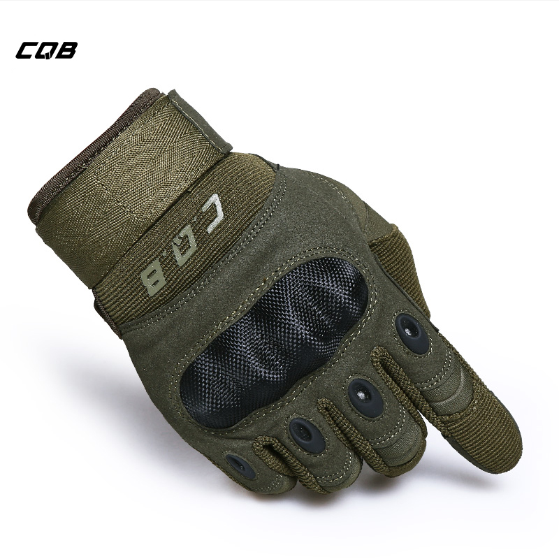 CQB Outdoor Sports Tactical Cycling Gloves Army Gloves Luvas Motorcycle Gloves for Hiking Camping Men's Airsoft Gloves