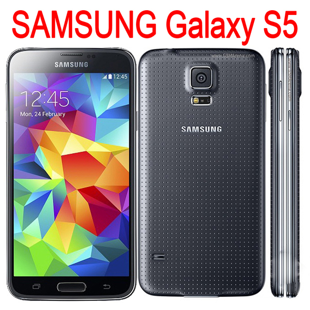 Original SAMSUNG Galaxy S5 I9600 Mobile Phone Unlocked Refurbished