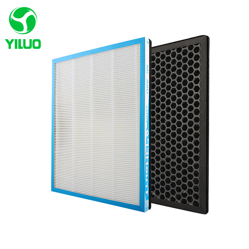 все цены на 348*265 mm collect dust hepa filter + activated carbon filter of air purifier parts for KJJ-F260B/280B etc онлайн