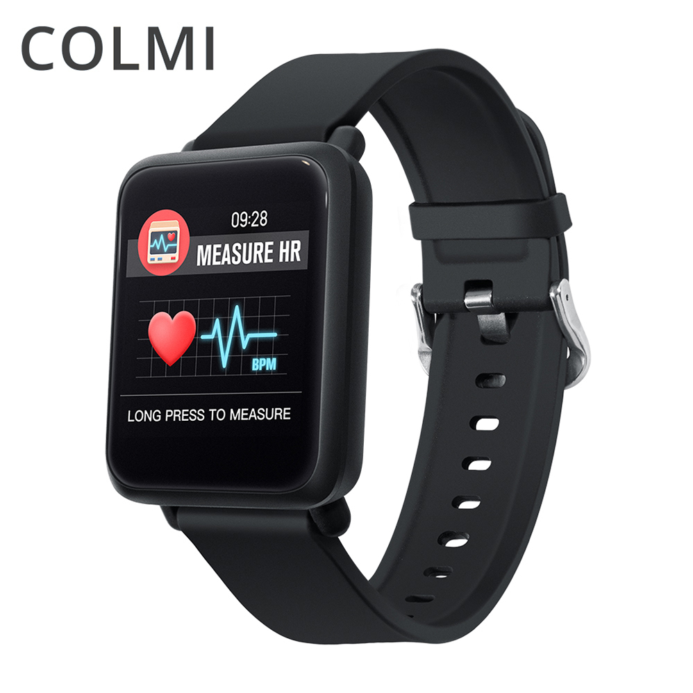 COLMI Smart Watch Square Screen Heart Rate Monitor Blood Pressure Oxygen Multi Sport Mode Waterproof Smartwatch