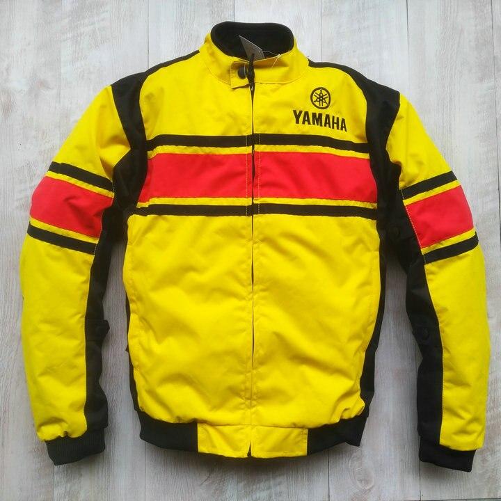 Vestes de Motocross pour YAMAHA Moto GP veste équipe de course Moto coton doublure jaune avec protecteur