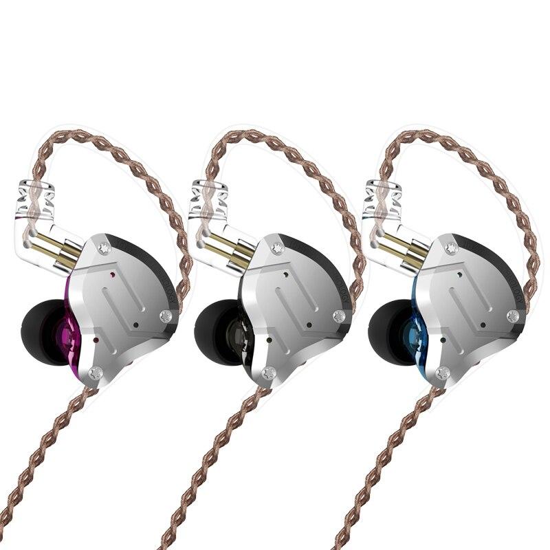 KZ ZS10 Pro métal casque 4BA + 1DD hybride 10 unités HIFI basse écouteurs dans l'oreille casques Sport suppression du bruit écouteurs - 2