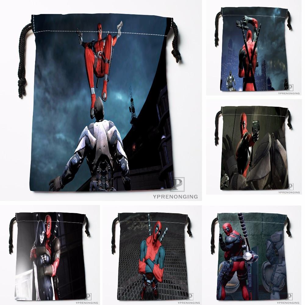 Custom Anime Hulk Deadpool Drawstring Bags Travel Storage Mini Pouch Swim Hiking Toy Bag Size 18x22cm