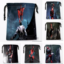 Custom Anime Hulk Deadpool Drawstring Bags Travel Storage Mini Pouch Swim Hiking Toy Bag Size 18x22cm#0412-04-229