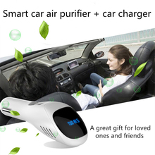 Air Purifier Air Freshener DC12V Mini Dual USB Car Charger Auto Car Fresh Air Negative Ionic Oxygen Bar Ozone Ionizer Cleaner free shipping unique car air purifier oxygen bar ozone cleaner with minus ion active carbon from ohmeka