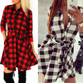 Blouses Shirts New Womens 3/4 Sleeve Sexy Winter Evening Party Bodycon Mini Skater Shirt Dress