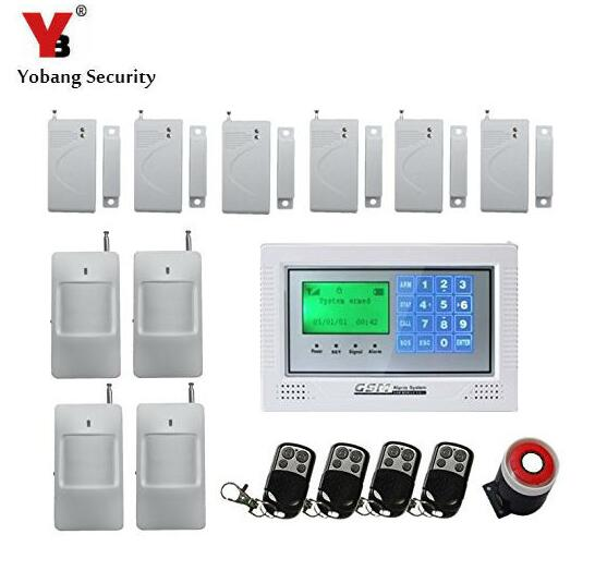 Yobang Security-Alarmas GSM Wireless Home Security Alarm System,Intelligent Mobile Call GSM Alarm System Auto-Dial & Auto Audio wireless service call bell system popular in restaurant ce passed 433 92mhz full equipment watch pager 1 watch 7 call button