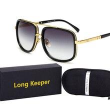 Oversized Square Pilot Sunglasses Men Vintage Retro luxury Shades for Women Male lunette de soleil homme with Case