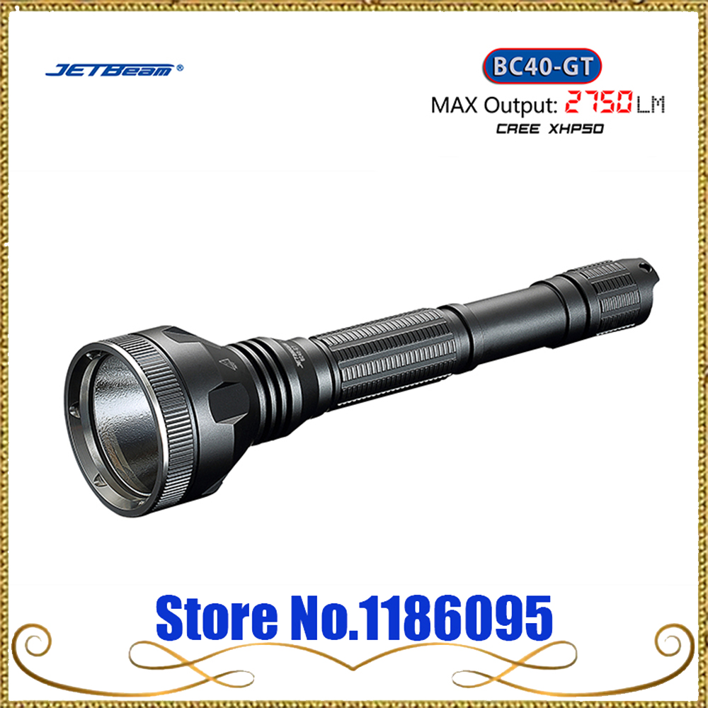 2017 NEW Jetbeam BC40-GT BC40GT Flashlight / Searchlight -2750Lm -CREE XHP50 LED jetbeam bc40gt flashlight searchlight 2750lm xhp50 led cycling bicycle bike front head light outdoor camping accessory m25