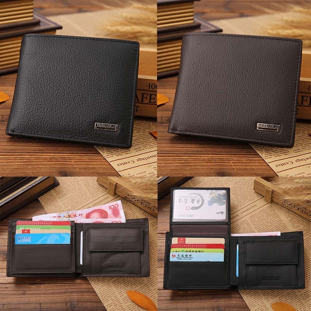 Xiniu Men Leather Card Cash Receipt Holder Organizer Bifold Wallet Purse short type