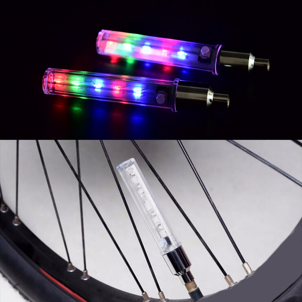 Colorful Bike Bicycle Cycling Spoke Wire Tire Rim Wheel LED Bright Light Lamp