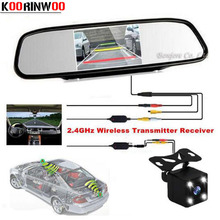 Cheapest prices Koorinwoo wireless 4.3″ Monitor Mirrror Digital Video Car Rearview Display Back up Cam Car Rear View Camera Parking Jalousie