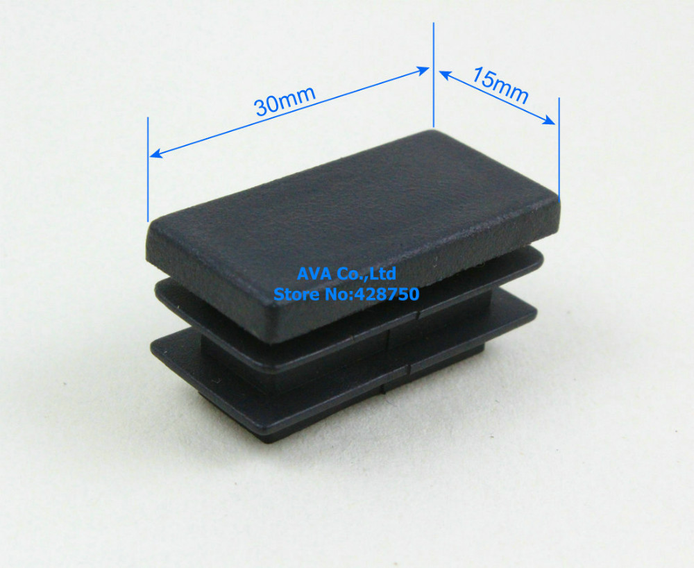 20 Pieces 15x30mm Rectangle Plastic Insert Cap Tube End Cap