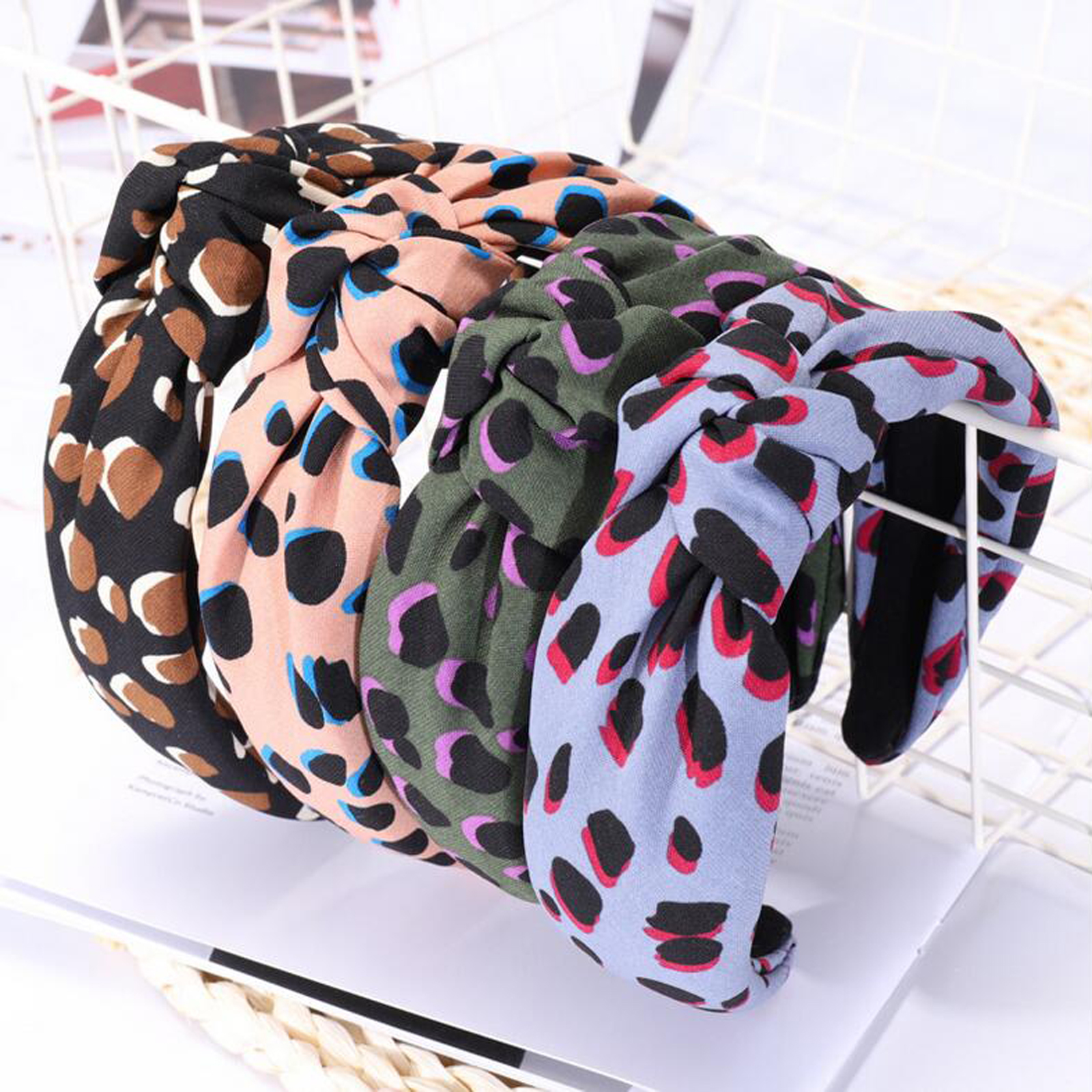 2019 New Fashion Bohemia Headband Women Leopard Cloth Hairband Adult Soft Female Headwear Turban Hair Accessories