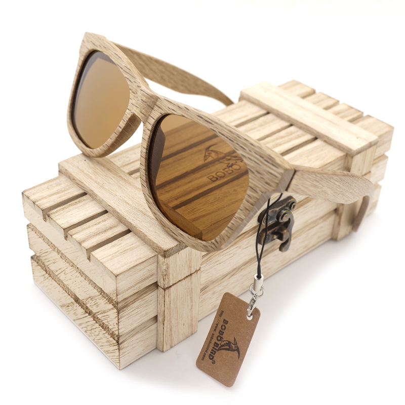 BOBO BIRD AG007b 100% Nature Wooden Sunglasses Womes