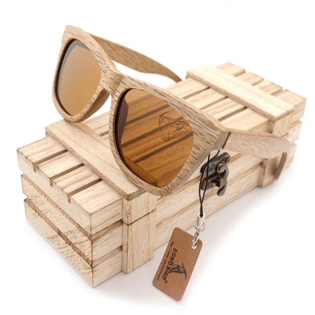 BOBO OISEAU AG007b 100% Nature En Bois lunettes de Soleil Femmes Meilleur  Cadeau Gawny Polarisées feaf28f4f318