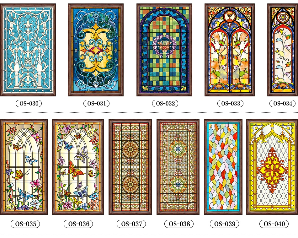 Custom stained glass sticker for windows church home foil stickers self adhesive window film stained glass windows 90x200cm 2pcs