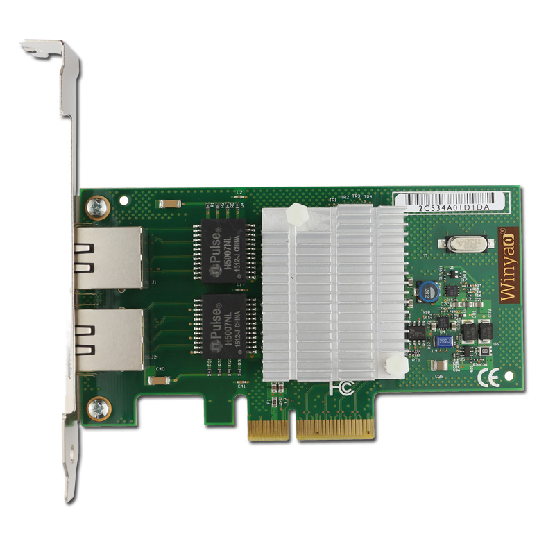 2 Ports Gigabit Ethernet Adapter PCIe X4 NIC Card 10/100/1000M Chipset NHI350AM2 pcie x1 4 port gigabit ethernet server card adapter 10 100 1000mbps i340 t4 esxi