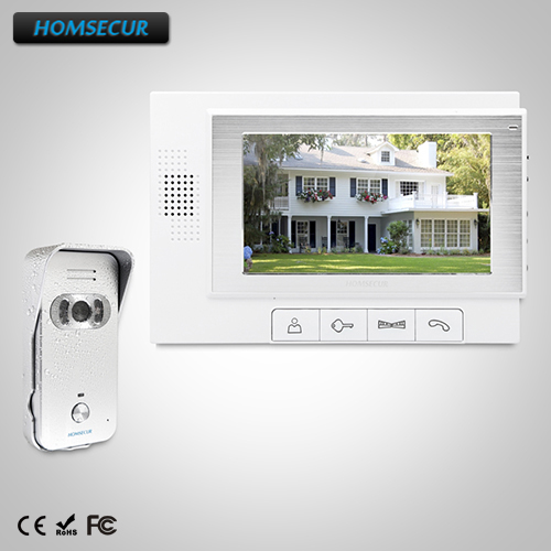 HOMSECUR 7 Wired Video Door Entry Security Intercom+Silver Camera for Apartment TC021-S + TM702-W w o a road show 2003