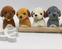 卸売funly 4色/セットぬいぐるみ7センチミニ犬人形携帯電話バッグペンダント