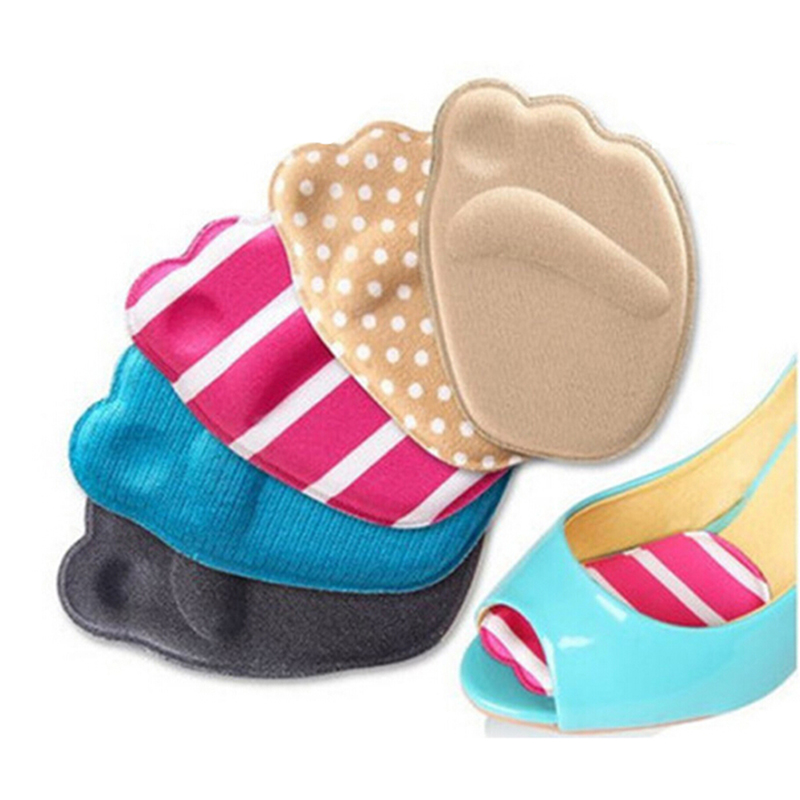 1Pair Soft Forefoot Insoles Shoes Sponge Pads High Heel Soft Insert Anti-Slip Foot Protection Pain Relief Women Shoes Insert