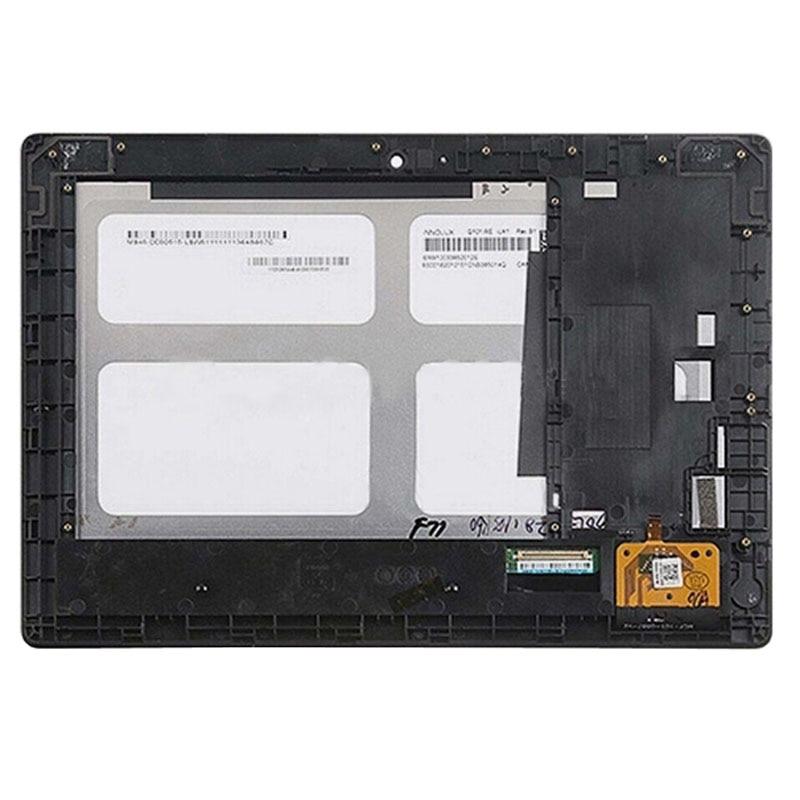H Schermo LCD e Digitizer Assemblea Completa con Telaio per Lenovo Idea Tab S6000 (Nero)