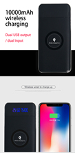 Wireless Charger Power Bank 10000mah Portable Dual USB with Digital Display External Battery Powerbank For iphone X 8 dental blx 8 portable wireless digital x ray unit