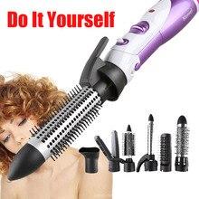Kemei 7 w 1 wielofunkcyjna lokówka do włosów Roller Hair fryzjerstwo prostownica elektryczna suszarka do włosów lokówka EU 220V wtyczka