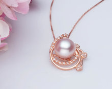 Free shipping!!!Freshwater Pearl Pendants,High Quality Jewelry, with 925 Sterling Silver, rose gold color plated